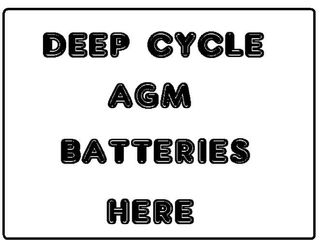 Deep Cycle Batteries -AGM