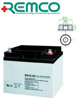 12v 45a/h AGM Battery REMCO (FREE DELIVERY, no Rural tickets)