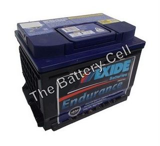 DIN55MF 12v 550cca EXIDE ENDURANT BATTERY (FREE DELIVERY, no Rural tickets)