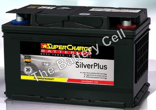 SMF65L SuperCharge Silver Battery (FREE DELIVERY, no Rural tickets)
