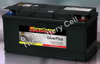 SMF85L SuperCharge Silver Battery (FREE DELIVERY, no Rural tickets)