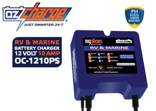 Ozcharge 12V 10A RV & Marine battery charger & power supply