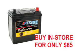 CAR BATTERY ENS40ZLMF EXIDE ENFORCER BATTERY (NS40)
