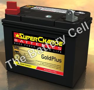 MFU1 SuperCharge GOLD Lawnmower Battery (FREE DELIVERY, no Rural tickets)