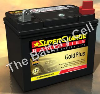 MFU1R SuperCharge GOLD Lawnmower Battery (FREE DELIVERY, no Rural tickets)