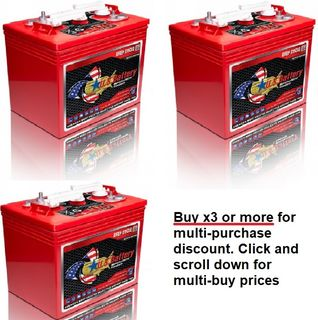 6V 220Ah US Battery Company battery with MULTI-BUY