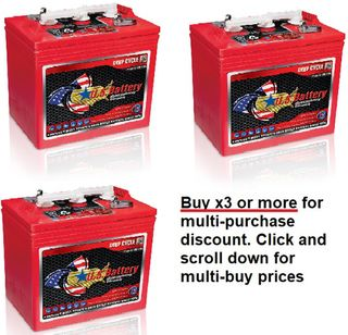 6V 232Ah US Battery Company battery with MULTI-BUY