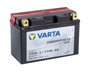 YT9B-4 VARTA Powersports AGM Dry-cell Motorcycle battery 12v