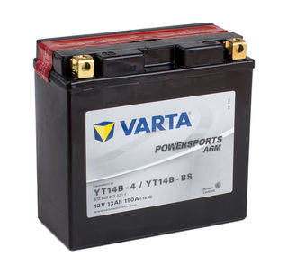 YT14B-4 VARTA Powersports AGM Dry-cell Motorcycle battery 12v