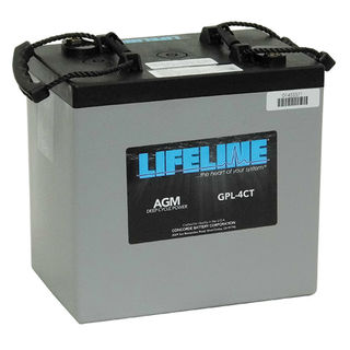 Deep Cycle Battery GPL-4CT 6V 220A/H Lifeline USA