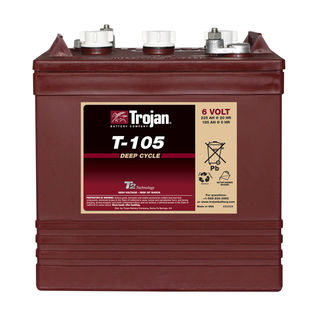 Trojan Battery 6v 225ahr Flooded Deep Cycle Lead Acid (FREE DELIVERY, no Rural tickets)