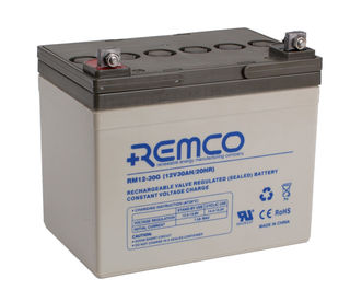 REMCO 12V 30AH GEL CYCLING BATTERY (FREE DELIVERY, no Rural tickets)