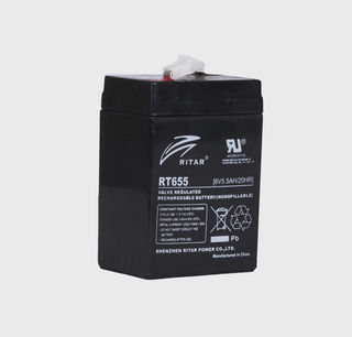 6V 5.5ah SLA, VRLA, AGM sealed Battery RITAR
