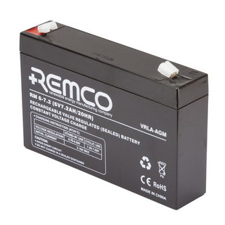 6V 7.2ah SLA, VRLA, AGM sealed Battery REMCO (FREE DELIVERY, no Rural tickets)
