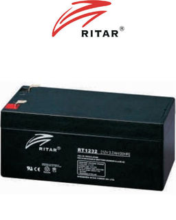 12V 3.2ah SLA, VRLA, AGM sealed Battery RITAR