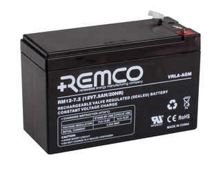 12V 7.2ah SLA, VRLA, AGM sealed Battery REMCO (FREE DELIVERY, no Rural tickets)