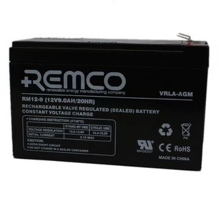 12V 9ah SLA, VRLA, AGM sealed Battery REMCO (FREE DELIVERY, no Rural tickets)