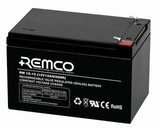 12V 12ah SLA, VRLA, AGM sealed Battery REMCO (FREE DELIVERY, no Rural tickets)