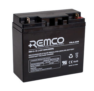 12V 18ah SLA, VRLA, AGM sealed Battery REMCO (FREE DELIVERY, no Rural tickets)