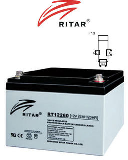 12V 26ah SLA, VRLA, AGM sealed Battery RITAR F13