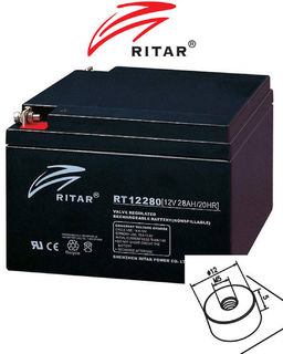 12V 28ah SLA, VRLA, AGM sealed Battery RITAR F13