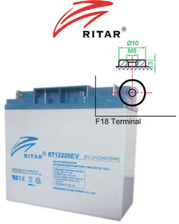 12V 22ah SLA, VRLA, AGM sealed Battery RITAR