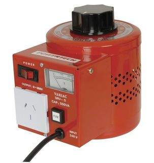 Power Supply VARIAC -Controllable, Lab style Auto-transformer -500VA