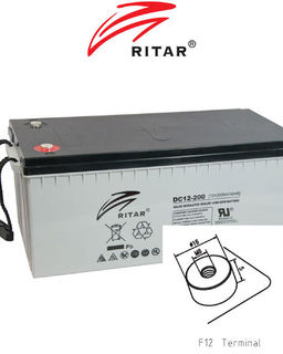 12V 200ah SLA, VRLA, AGM sealed Battery RITAR F12