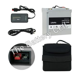 Lithium Battery 12.8v 22ah Battery and Charger COMBO (MC)