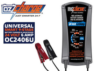 OzCharge 24V - Selectable 6amp Battery Charger and Maintainer