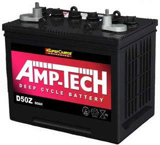 Deep Cycle Battery 12V 80a/h AMP-TECH (FREE DELIVERY, no Rural tickets)