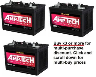 Deep Cycle Battery 12V 80a/h AMP-TECH with MULTI-BUY
