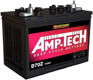 Deep Cycle 12V 105a/h Battery AMP-TECH (FREE DELIVERY, no Rural tickets)