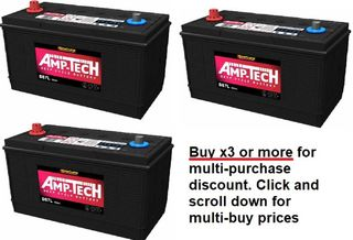 Deep Cycle 12V 120a/h Battery AMP-TECH with MULTI-BUY