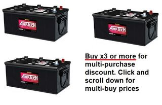 Deep Cycle 12V 220a/h Battery AMP-TECH with MULTI-BUY