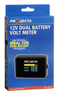 12V Dual Battery Volt Meter Projecta Quality