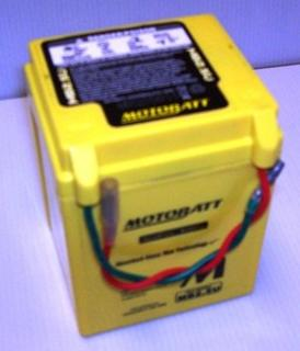 Motorcycle Battery MB2.5U Motobatt Quadflex Battery