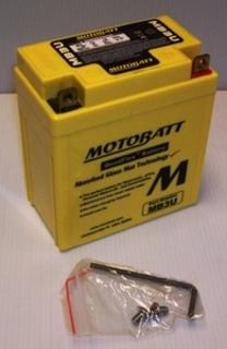 Motorcycle Battery MB3U Motobatt Quadflex Battery