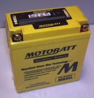 Motorcycle battery MB5U Motobatt Quadflex Battery