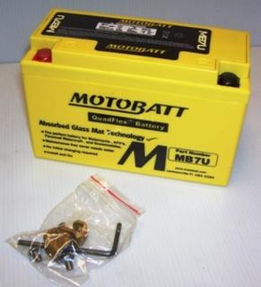 Motorcycle Battery MB7U Motobatt Quadflex Battery