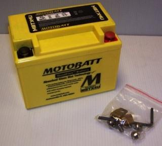 Motorcycle battery MBTX4U Motobatt Quadflex Battery
