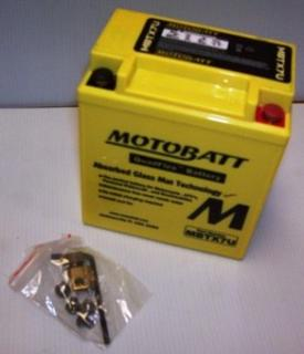 Motorcycle Battery MBTX7U Motobatt Quadflex Battery