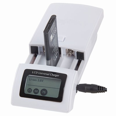Li-Ion, Ni-Cd, Ni-MH Universal Charger with LCD