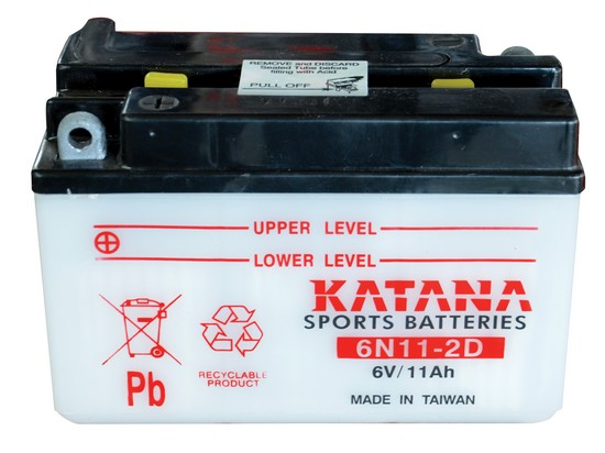 6N11-2D KATANA 6V Motorcycle Battery
