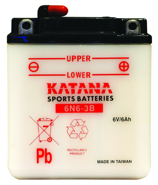 6N6-3B KATANA 6v Motorcycle Battery