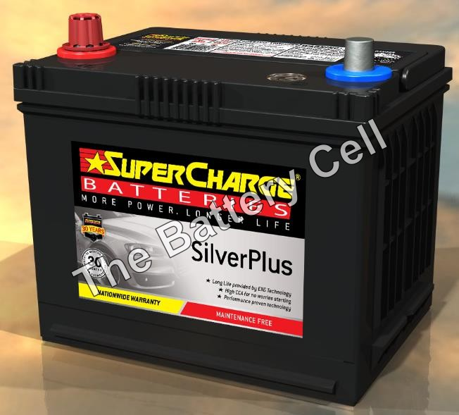 SMF57 SuperCharge Silver Battery (FREE DELIVERY, no Rural tickets)