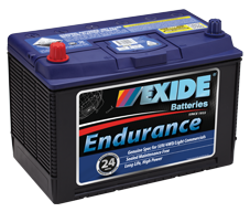 N50ZZ 12v 620cca AUTO/COMMERCIAL EXIDE ENDURANCE Battery (FREE DELIVERY, no Rural tickets)