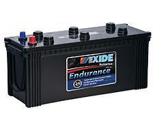N120 12v 900cca EXIDE ENDURANCE BATTERY (FREE DELIVERY, no Rural tickets)