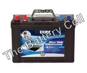 STOWAWAY Exide Marine Start/Cycle battery 12v 600cca 82Ah MSDP24 (FREE DELIVERY, no Rural tickets)