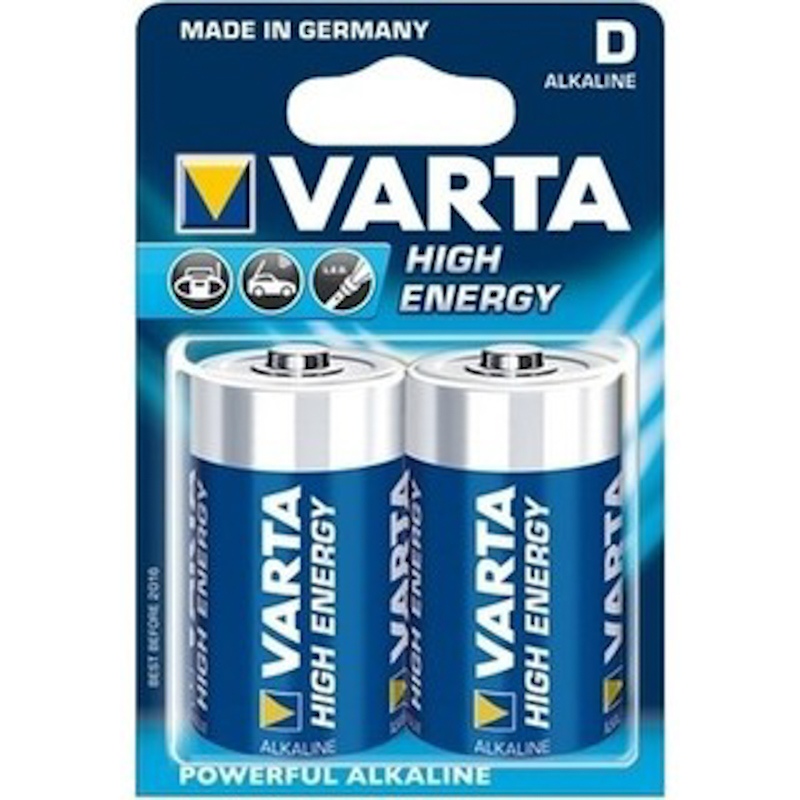 D VARTA Alkaline Battery 2PK